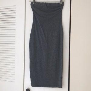 Heart Hips basic gray tube dress small